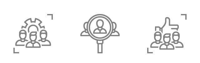 Icons that represent henniker plasma test and development services